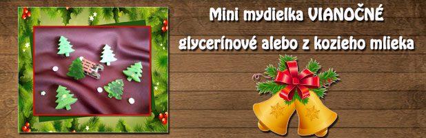 Mini mydielka – vianočné –  glycerínové alebo z kozieho mlieka
