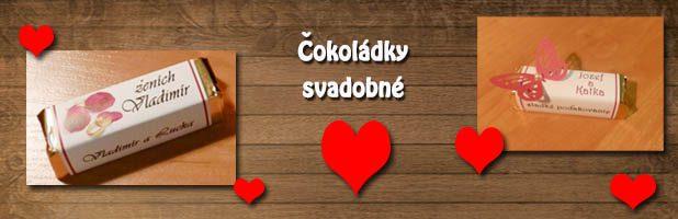 Čokoládky – svadobné