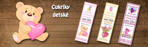 Cukríky detské-darčeky