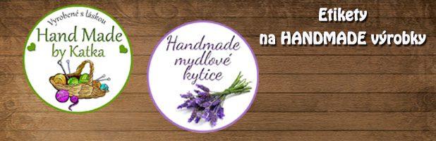 Samolepiace etikety na HANDMADE výrobky a vianočné výrobky