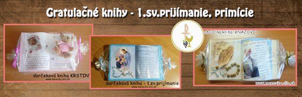 Gratulačné knihy-prijímanie, krstiny, birmovanie, primície