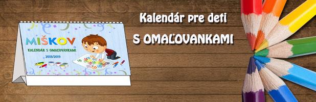 Kalendár pre deti s omaľovankami