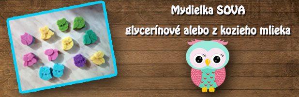 Mini mydielka glycerínové alebo z kozieho mlieka – sova