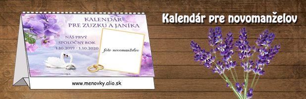 Svadobný kalendár stolový – darček  pre novomanželov